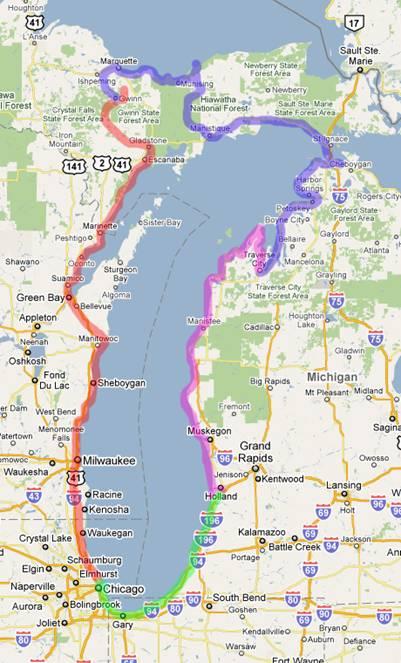 Lake Michigan Circle Tour Motorcycle